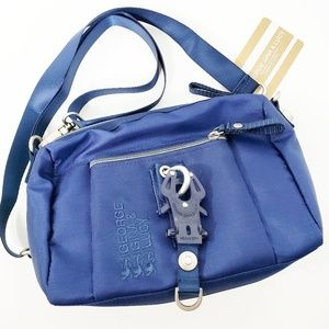 George Gina Lucy The Drops Blue Polyester Bag NWT